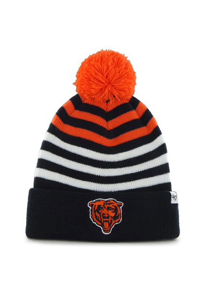 47 Chicago Bears Navy Blue Yipes Youth Knit Hat - Image 1
