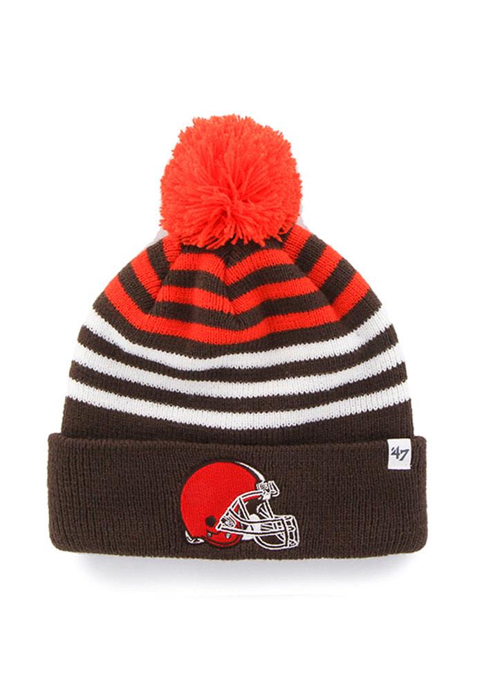 47 Cleveland Browns Brown Yipes Youth Knit Hat - Image 1