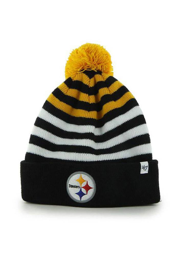 47 Pittsburgh Steelers Black Yipes Youth Knit Hat - Image 1