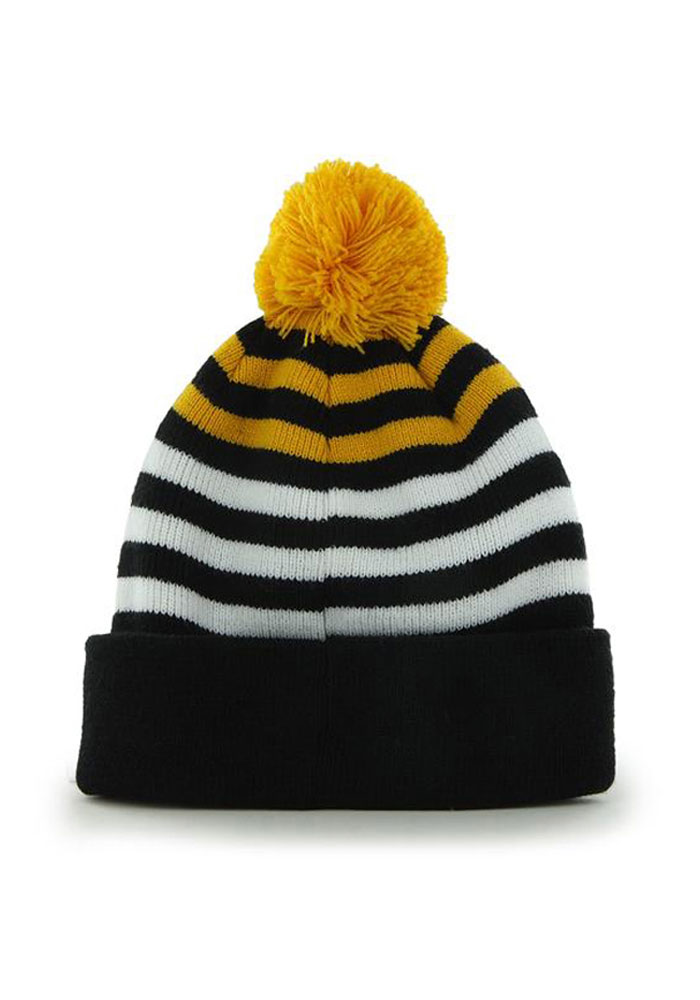 47 Pittsburgh Steelers Black Yipes Youth Knit Hat - Image 2