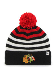 47 Chicago Blackhawks Black Yipes Youth Knit Hat