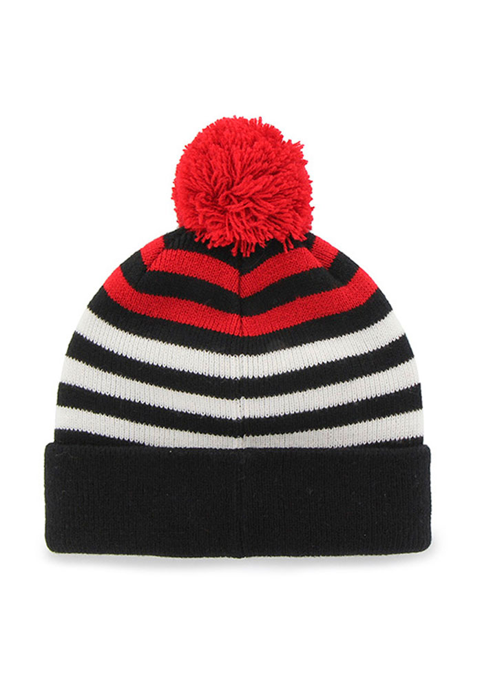 47 Chicago Blackhawks Black Yipes Youth Knit Hat - Image 2