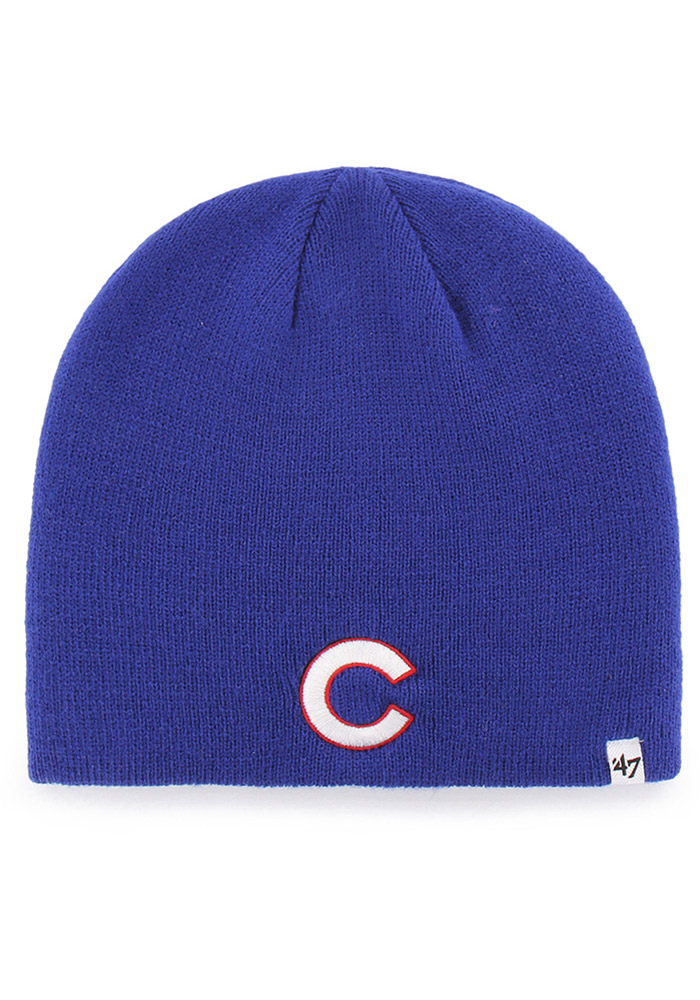 '47 Chicago Cubs Blue Beanie Mens Knit Hat - Image 1
