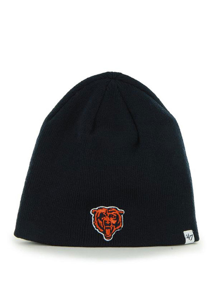 '47 Chicago Bears Navy Blue Beanie Mens Knit Hat - Image 1