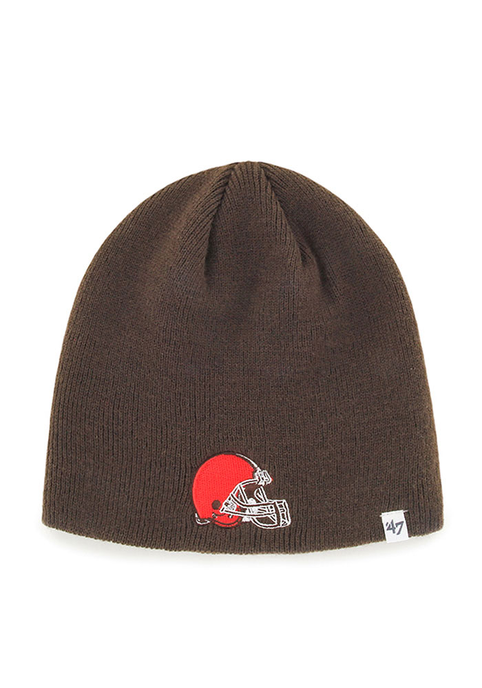 '47 Cleveland Browns Brown Beanie Mens Knit Hat - Image 1