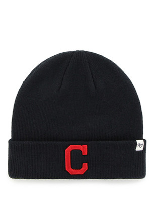 '47 Cleveland Indians Mens Navy Blue Raised Cuff Knit Hat