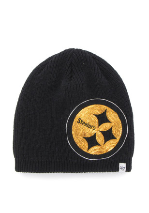 '47 Pitt Steelers Blue Sparkle Beanie Knit Hat