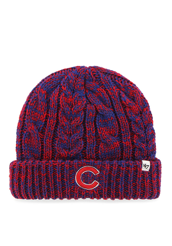 '47 Chicago Cubs Blue Prima Cuff Womens Knit Hat - Image 1