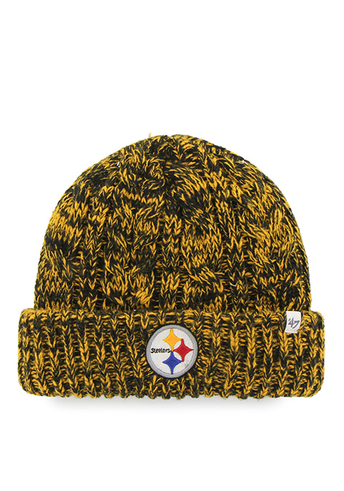 '47 Pittsburgh Steelers Black Prima Cuff Womens Knit Hat - Image 1
