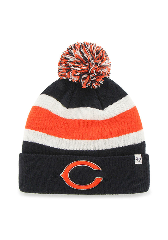 '47 Chicago Bears Navy Blue Breakaway Mens Knit Hat - Image 1