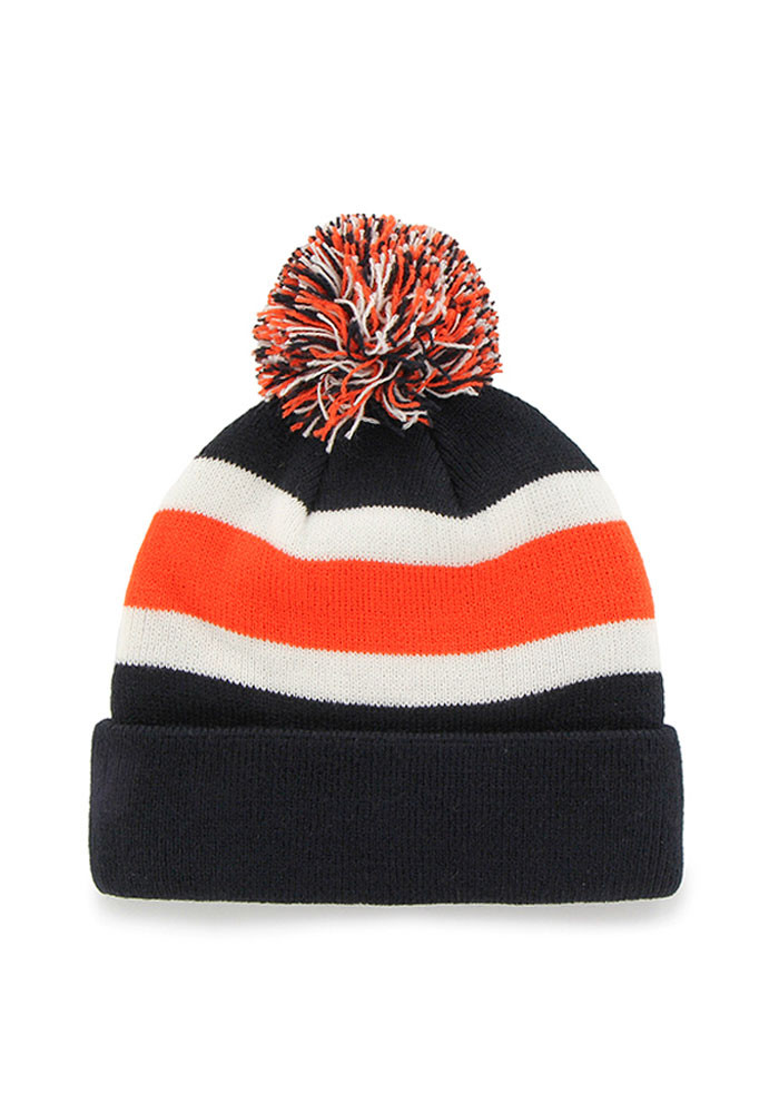 '47 Chicago Bears Navy Blue Breakaway Mens Knit Hat - Image 2