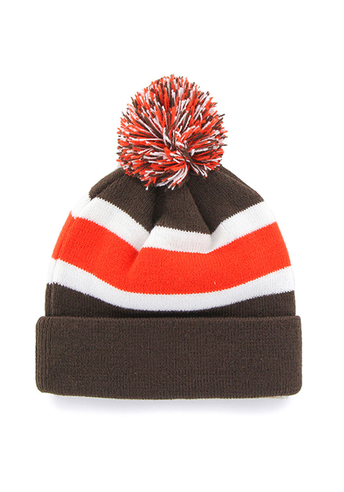 '47 Cleveland Browns Brown Breakaway Mens Knit Hat - Image 2