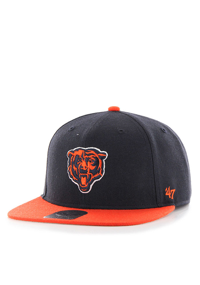 47 Chicago Bears Navy Blue Lil Shot Youth Snapback Hat - Image 1