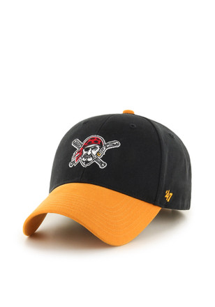 8488256a3e6 47 Pittsburgh Pirates Black Short Stack Youth Adjustable Hat