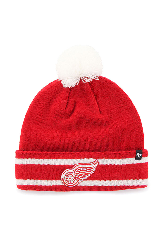 '47 Detroit Red Wings Red Lateral Mens Knit Hat - Image 1