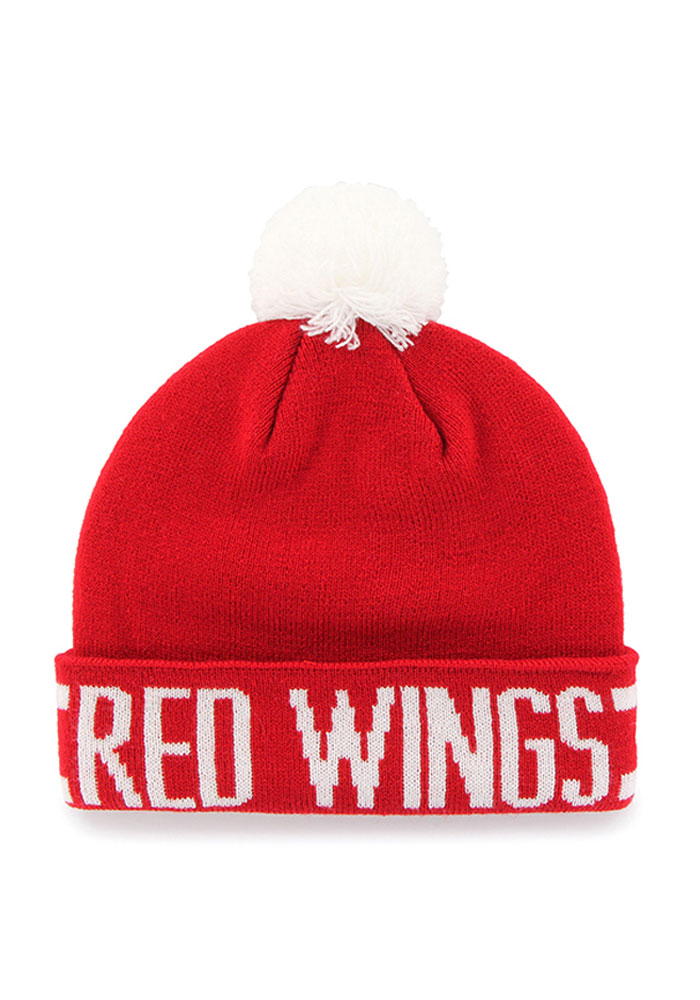 47 Detroit Red Wings Red Lateral Mens Knit Hat - Image 2