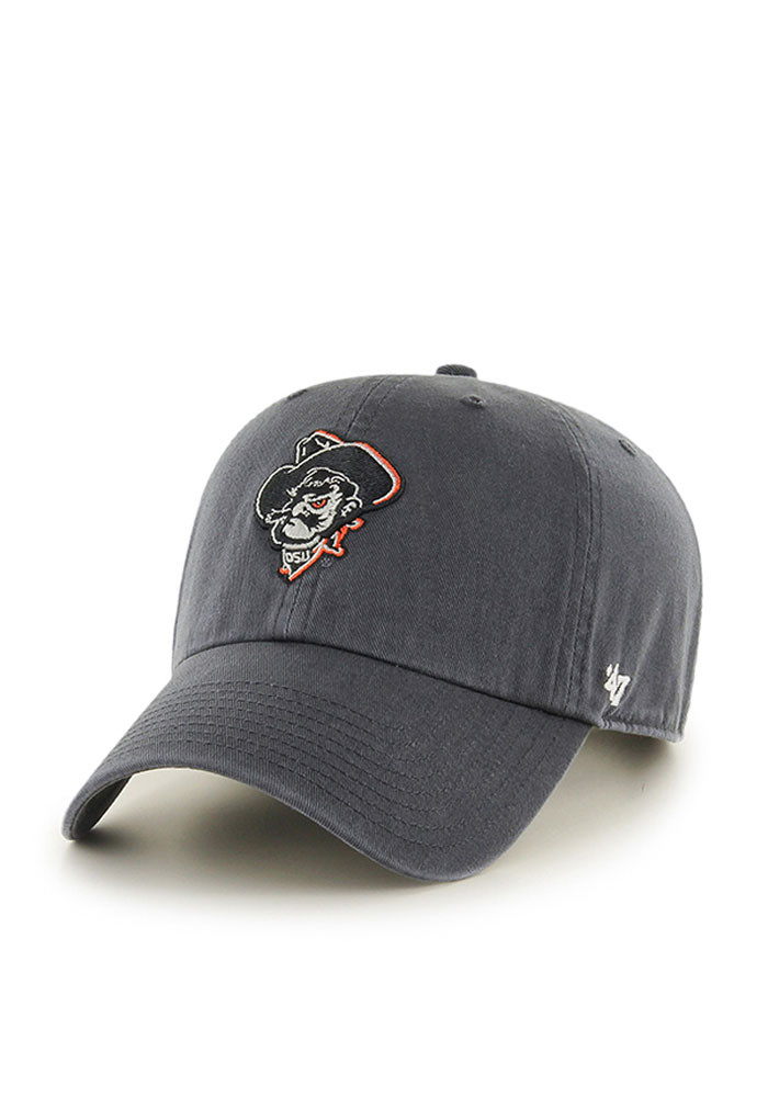 '47 Oklahoma State Cowboys Mens Grey Clean Up Adjustable Hat - Image 1
