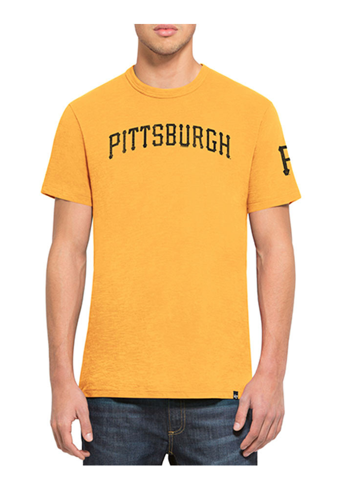'47 Pittsburgh Pirates Mens Gold Two Peat Scrum Tee Short Sleeve Fashion T Shirt - Image 1