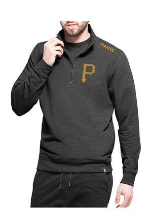 '47 Pittsburgh Pirates Mens Grey Forward Compete 1/4 Zip Pullover