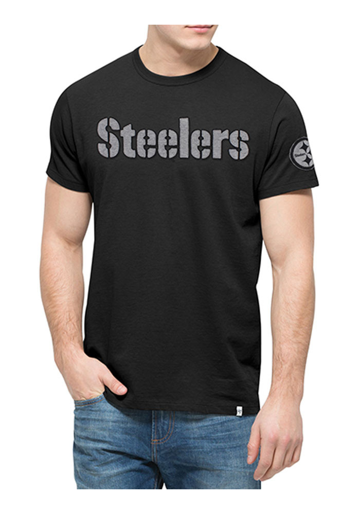 '47 Pittsburgh Steelers Mens Black Fieldhouse Tee Short Sleeve Fashion T Shirt - Image 1