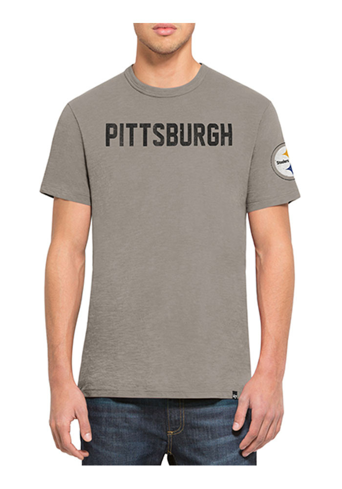 '47 Pittsburgh Steelers Mens Gold Two Peat Scrum Tee Short Sleeve Fashion T Shirt - Image 1
