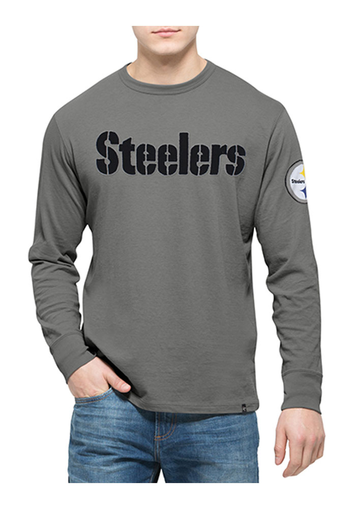 47 Pittsburgh Steelers Grey Fieldhouse Long Sleeve Fashion T Shirt - Image 1
