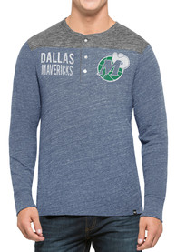 47 Dallas Mavericks Black Neps Henley Fashion Tee