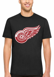 47 Detroit Red Wings Black All Pro Flanker Tee Short Sleeve Fashion T Shirt