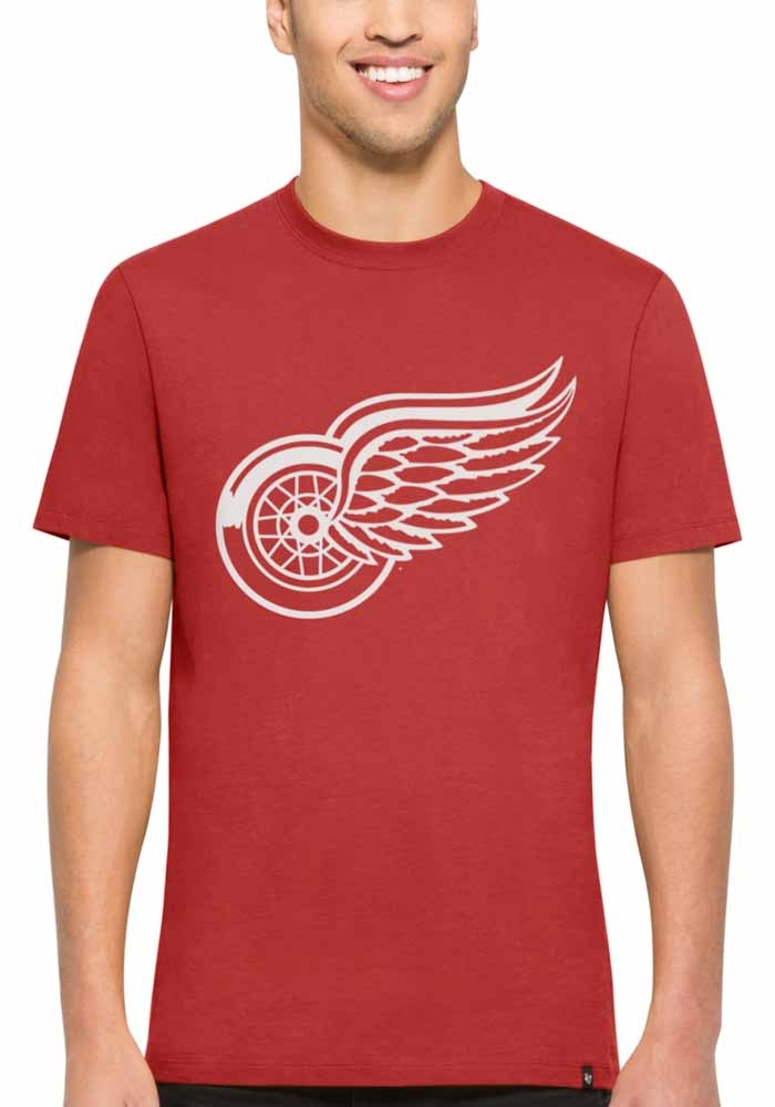 47 Detroit Red Wings Red All Pro Flanker Tee Short Sleeve Fashion T Shirt - Image 1