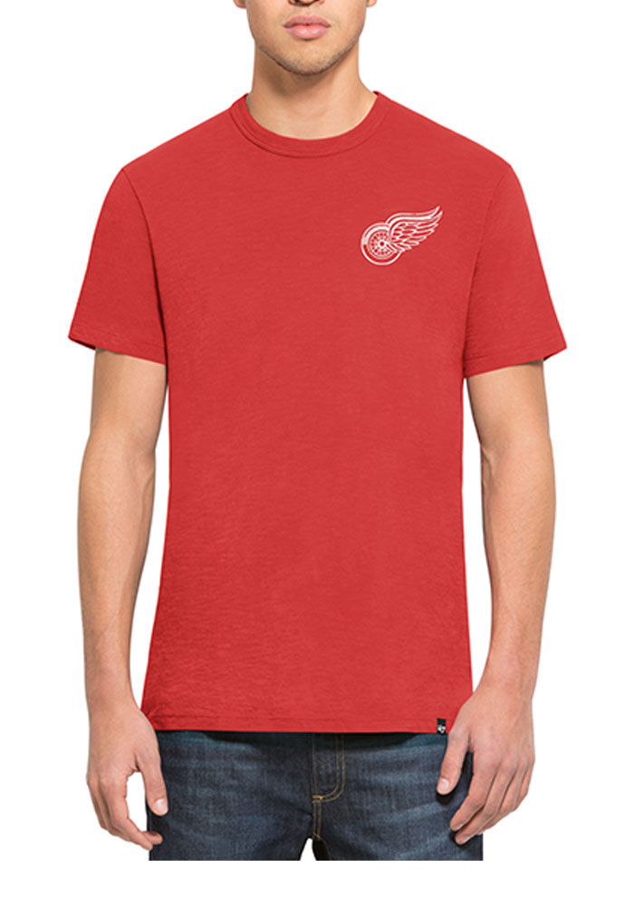 47 Detroit Red Wings Red MVP Scrum Short Sleeve Fashion T Shirt - Image 1