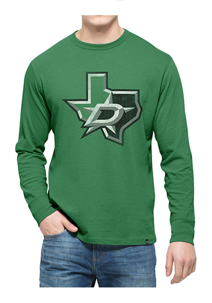 47 Dallas Stars Kelly Green Flanker Long Sleeve Fashion T Shirt - Image 1