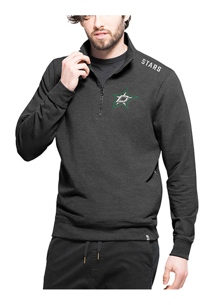 '47 Dallas Stars Mens Black Forward Compete Long Sleeve 1/4 Zip Pullover - Image 1