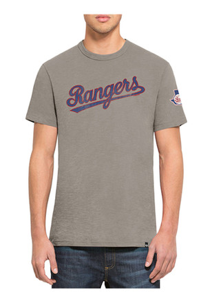 '47 Texas Rangers Mens Navy Blue Two Peat Scrum Tee Fashion Tee