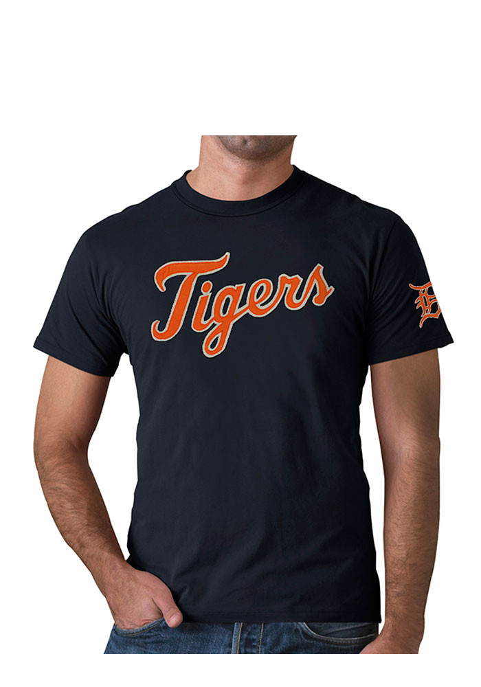 '47 Detroit Tigers Mens Navy Blue Fieldhouse Tee Short Sleeve Fashion T Shirt - Image 1