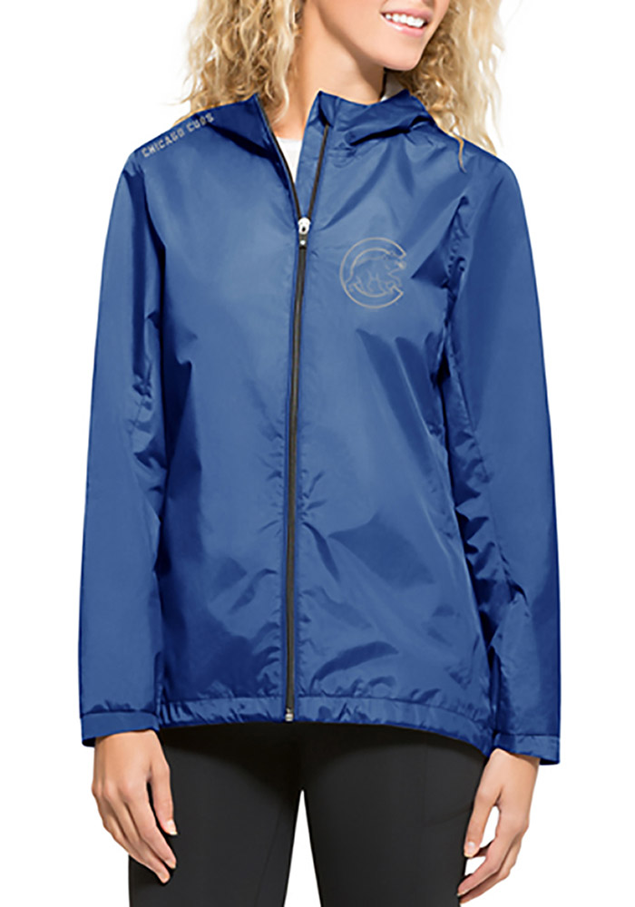 '47 Chicago Cubs Womens Blue React Light Weight Jacket - Image 1