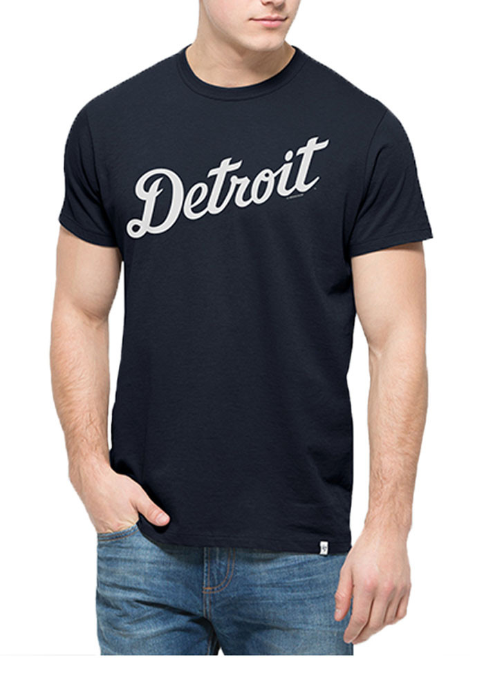 '47 Detroit Tigers Mens Navy Blue Flanker MVP Tee Short Sleeve Fashion T Shirt - Image 1