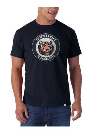 '47 Detroit Tigers Mens Navy Blue Knockout Fashion Tee