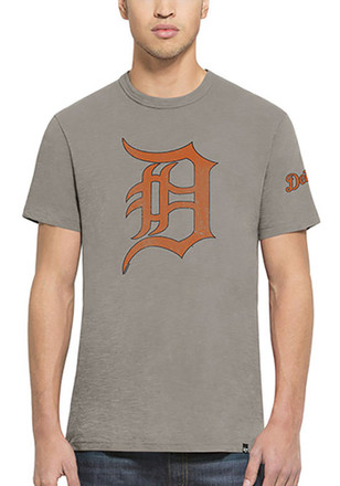 '47 Detroit Tigers Mens Navy Blue Two Peat Fashion Tee