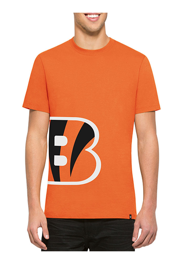 47 Cincinnati Bengals Orange Double Coverage Fashion Tee