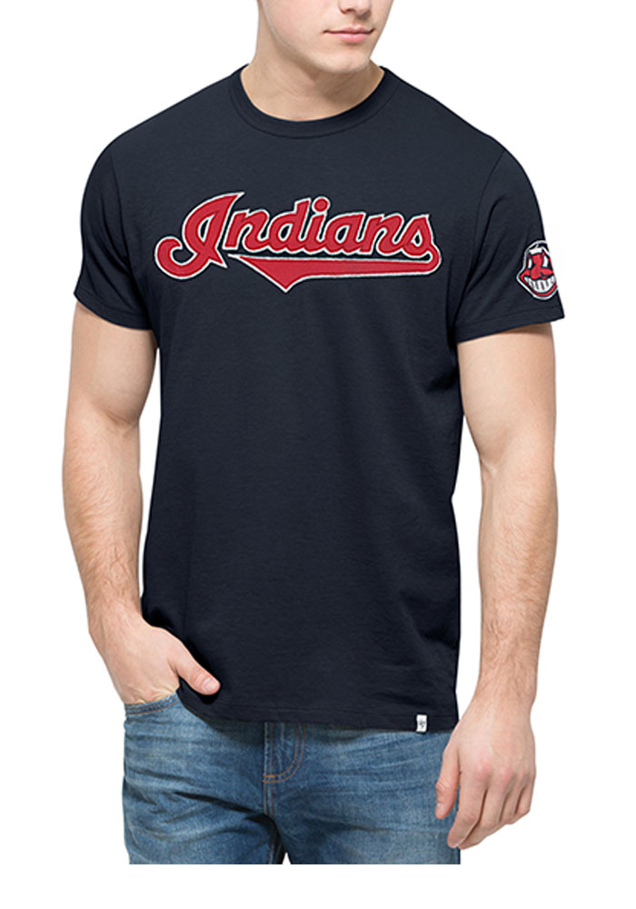 a3513f9e4 47 Cleveland Indians Navy Blue Fieldhouse Short Sleeve Fashion T Shirt -  Image 1