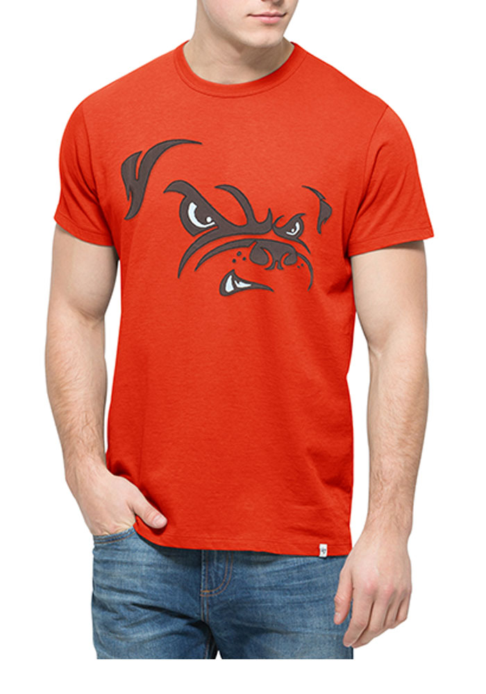 '47 Cleveland Browns Mens Brown Knockout Short Sleeve Fashion T Shirt - Image 1