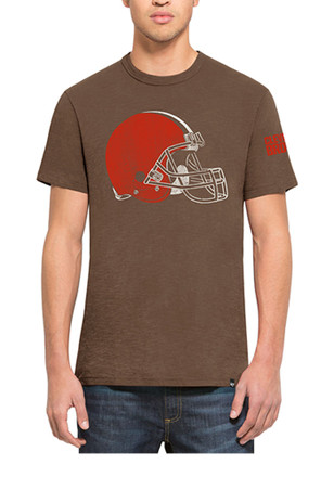 '47 Cleveland Browns Mens Brown Two Peat Scrum Fashion Tee