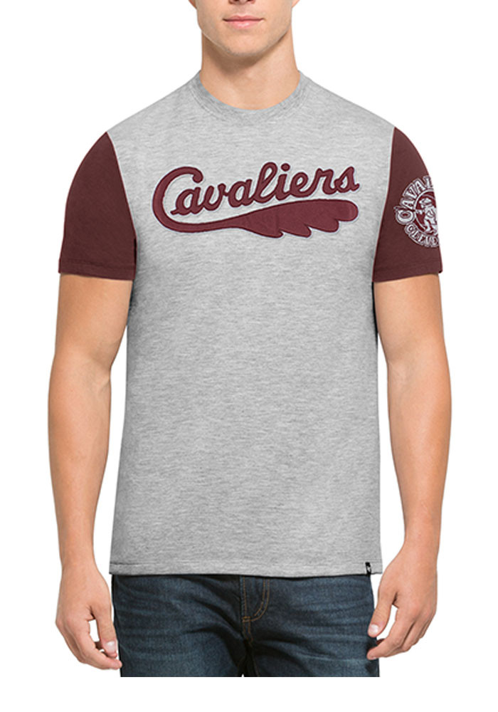 '47 Cleveland Cavaliers Mens Maroon Triple Up Short Sleeve Fashion T Shirt - Image 1