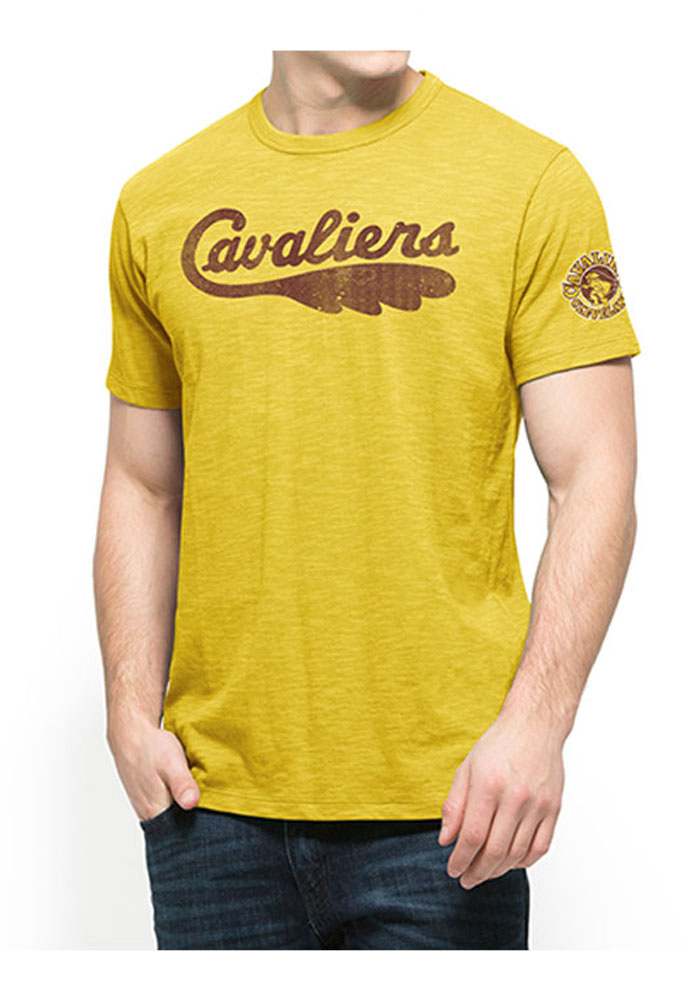 '47 Cleveland Cavaliers Mens Gold Two Peat Short Sleeve Fashion T Shirt - Image 1