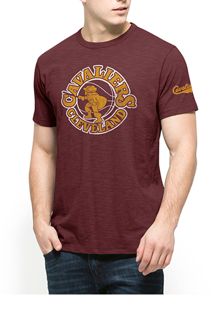 '47 Cleveland Cavaliers Mens Maroon Two Peat Scrum Short Sleeve Fashion T Shirt - Image 1