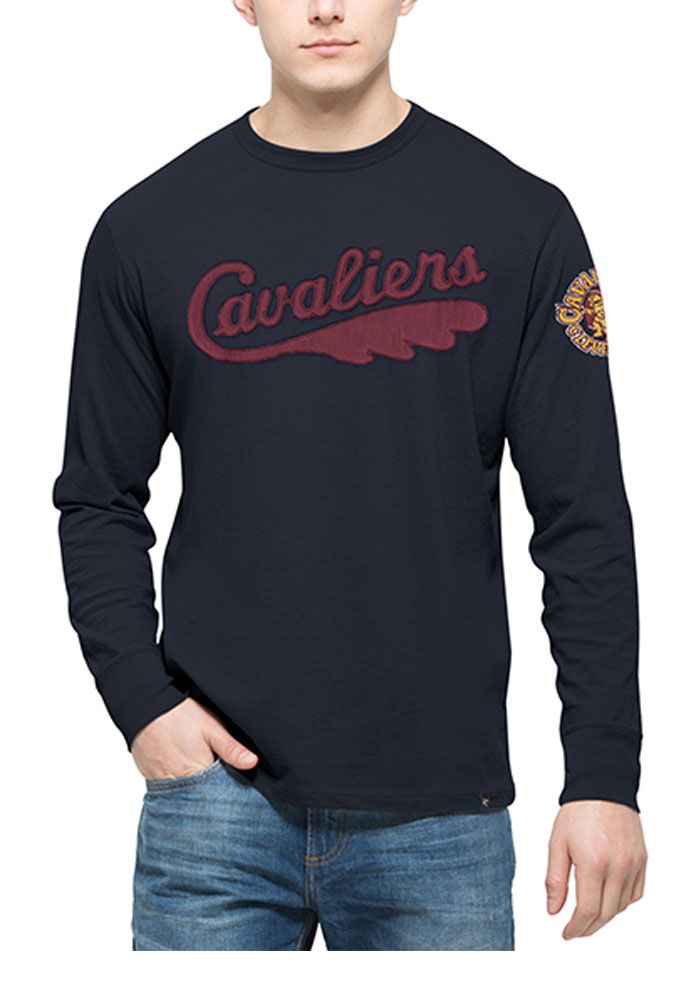 '47 Cleveland Cavaliers Mens Navy Blue Fieldhouse Long Sleeve Fashion T Shirt - Image 1