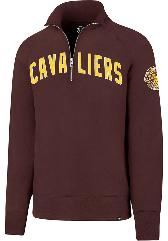 '47 Cleveland Cavaliers Mens Maroon Striker Long Sleeve 1/4 Zip Fashion Pullover - Image 1