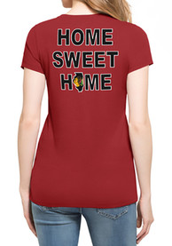 47 Chicago Blackhawks Womens MVP Club Red Scoop T-Shirt