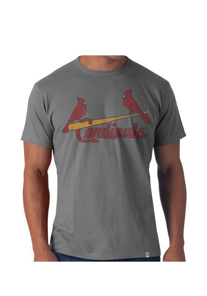 47 St Louis Cardinals Grey Flanker Short Sleeve Fashion T Shirt - Image 1