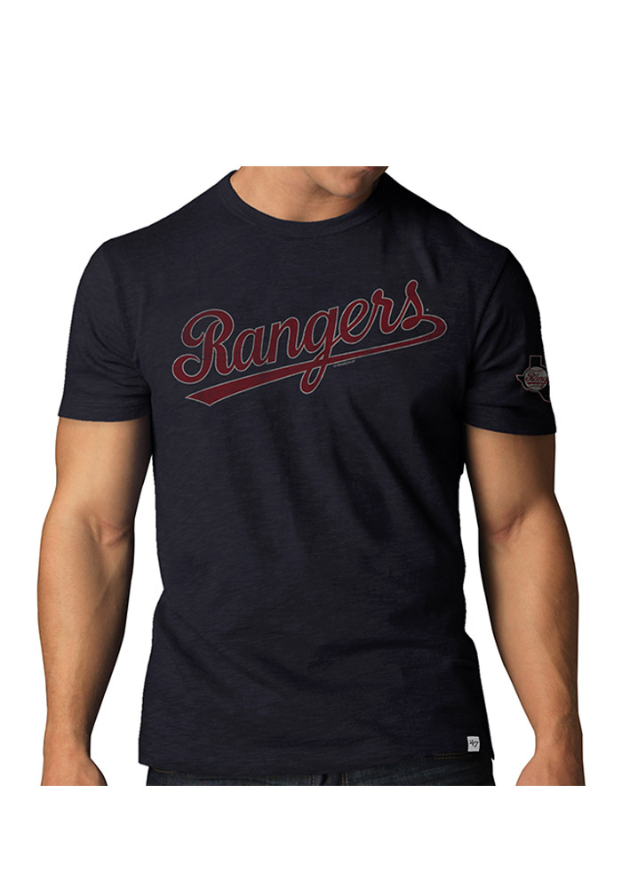 47 Texas Rangers Navy Blue Two Peat Short Sleeve Fashion T Shirt - Image 1